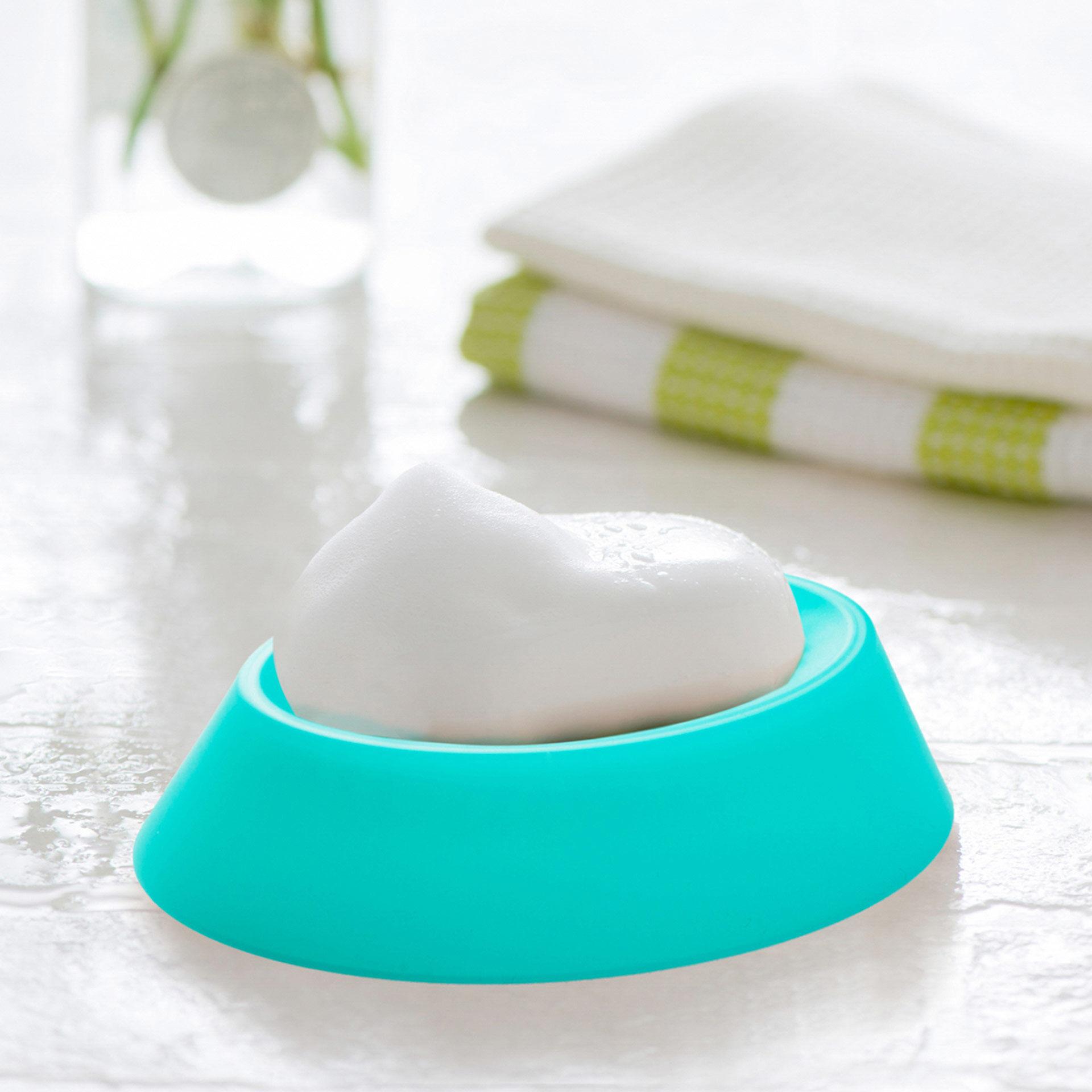 Porte-savon et brosse pour le nettoyage de la salle de bain, , large