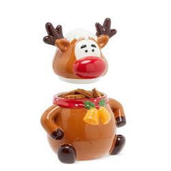 Biscottiera natalizia in ceramica, , large