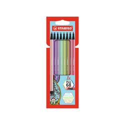 Pennarello Premium STABILO Pen 68 New Shades Astuccio da 8 Colori assortiti, , large