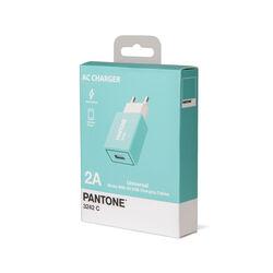Caricabatterie USB da Rete 2.1A linea Pantone - verde petrolio, verde, large