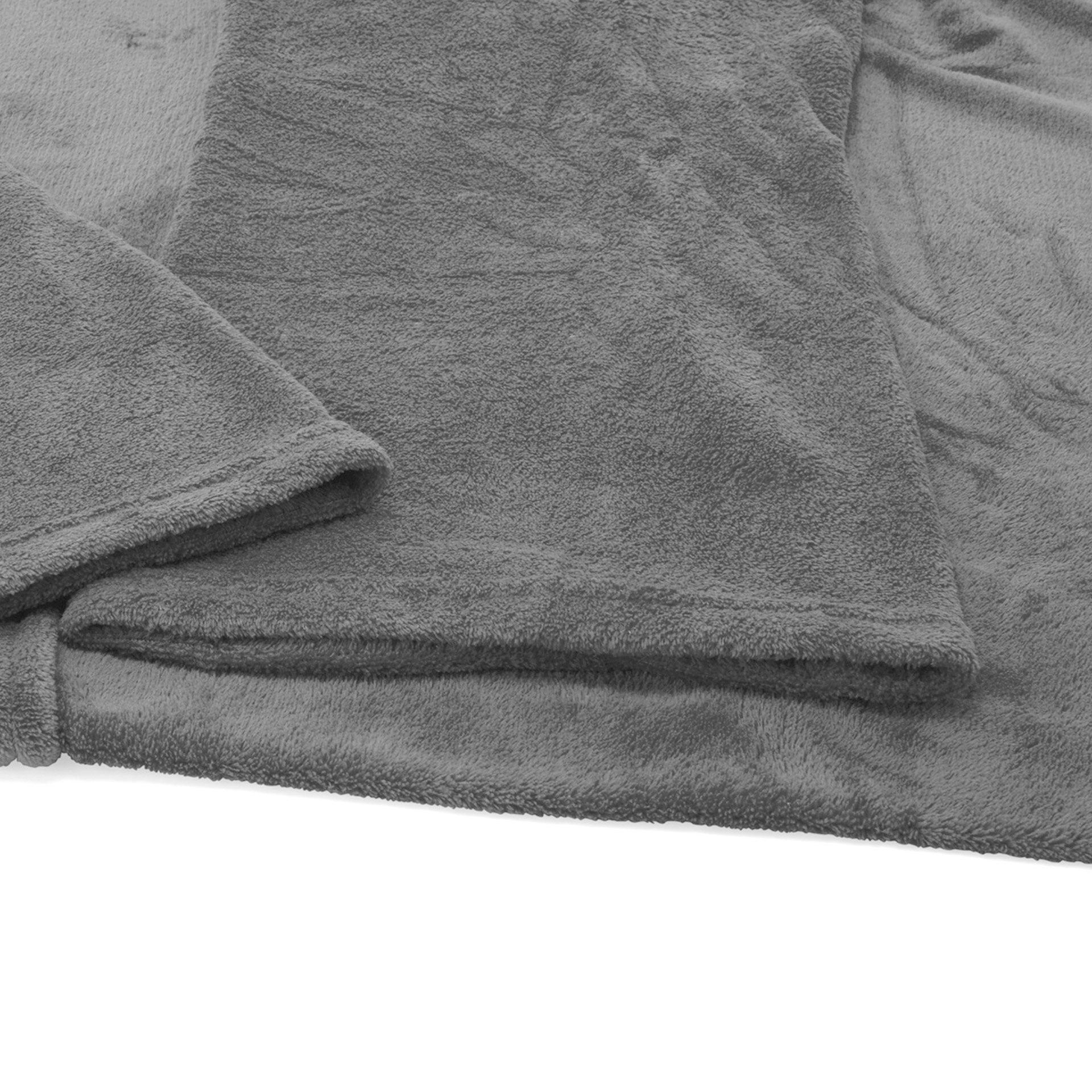 Couverture à manches - grise, gris , large