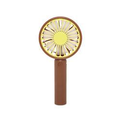Mini ventilatore portatile ricaricabile USB - lime/marrone, lime/marrone, large