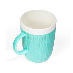 Tazza in ceramica effetto maglia, , large