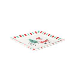 Piatto in ceramica Babbo Natale, , large