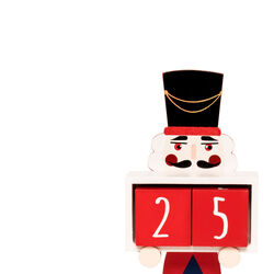 Calendario conto alla rovescia Schiaccianoci in legno, , large