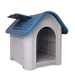 Maxi cuccia cani con tettino apribile, , large