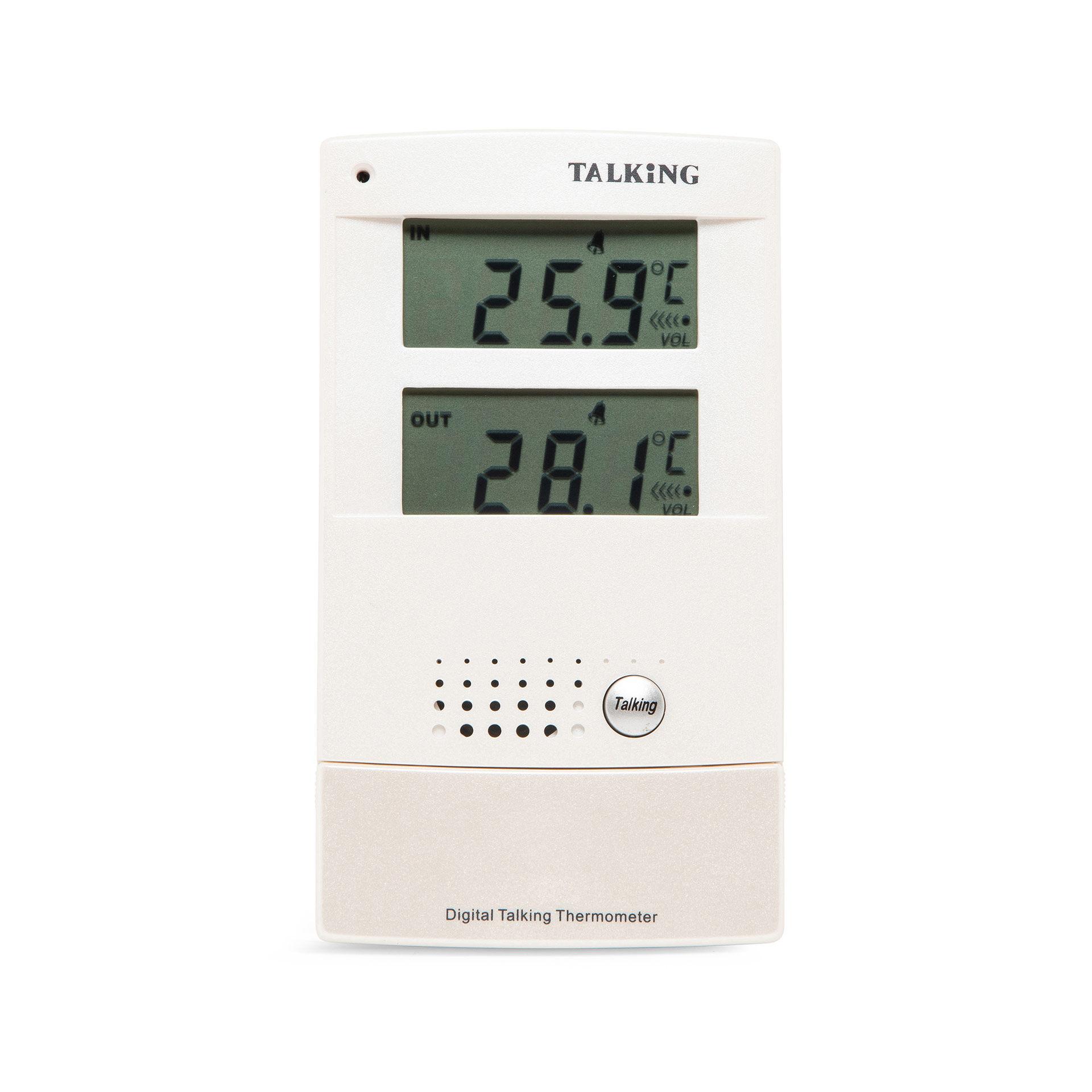 Thermomètre parlant intérieur/extérieur, , large