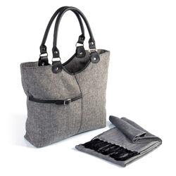 Set moda con borsa e sciarpa, , large