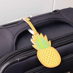 Etichetta per valigia ananas, , large
