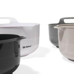 Ciotole da cucina in plastica e silicone - Set da 4 pz, , large