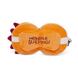 Cuscino da viaggio con maschera per dormire - Mostro arancio, , large