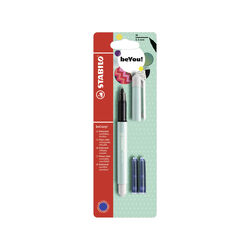 Penna Roller - STABILO beCrazy! Pastel in Turchese - 3 Cartucce Blu incluse, , large