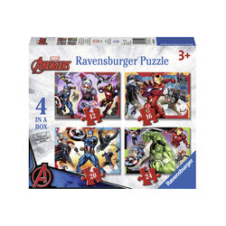 Ravensburger Puzzle 4 in 1 06942 - Avengers, , large