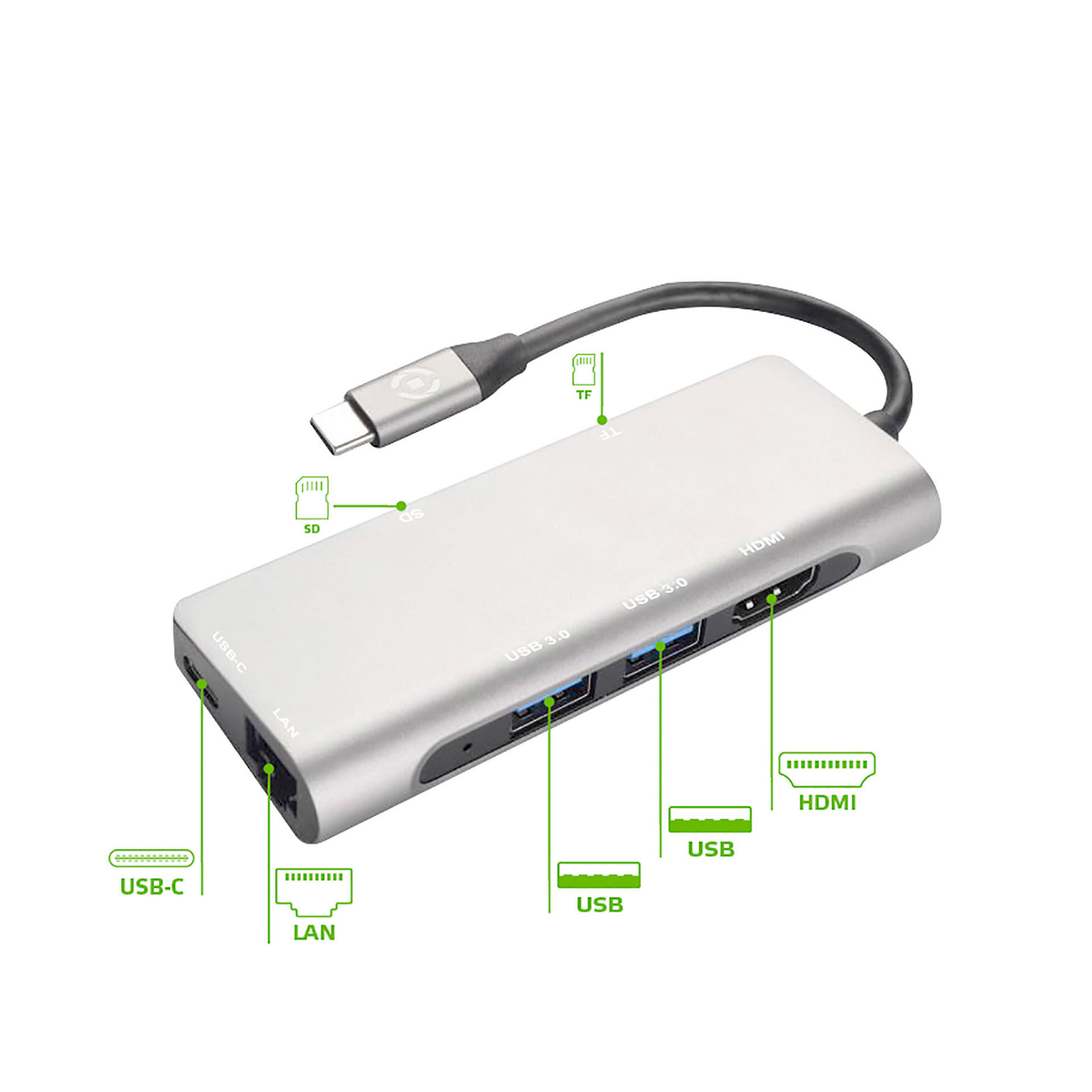 Adaptateur USB-C multiport, , large